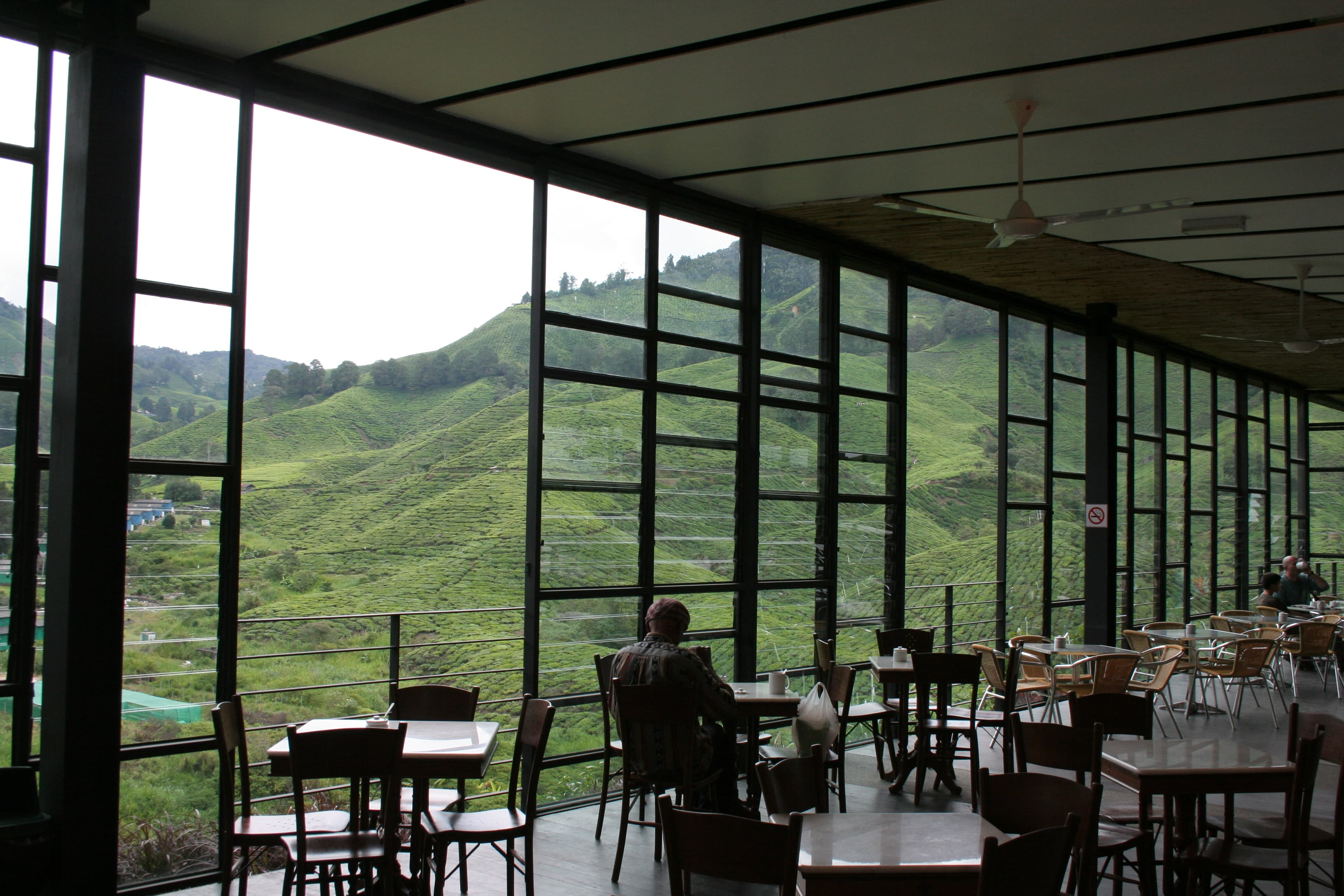 Boh Tea Plantation Cafe in Cameron Highlands, Malaysia
