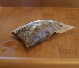 Same tea bag after steeping