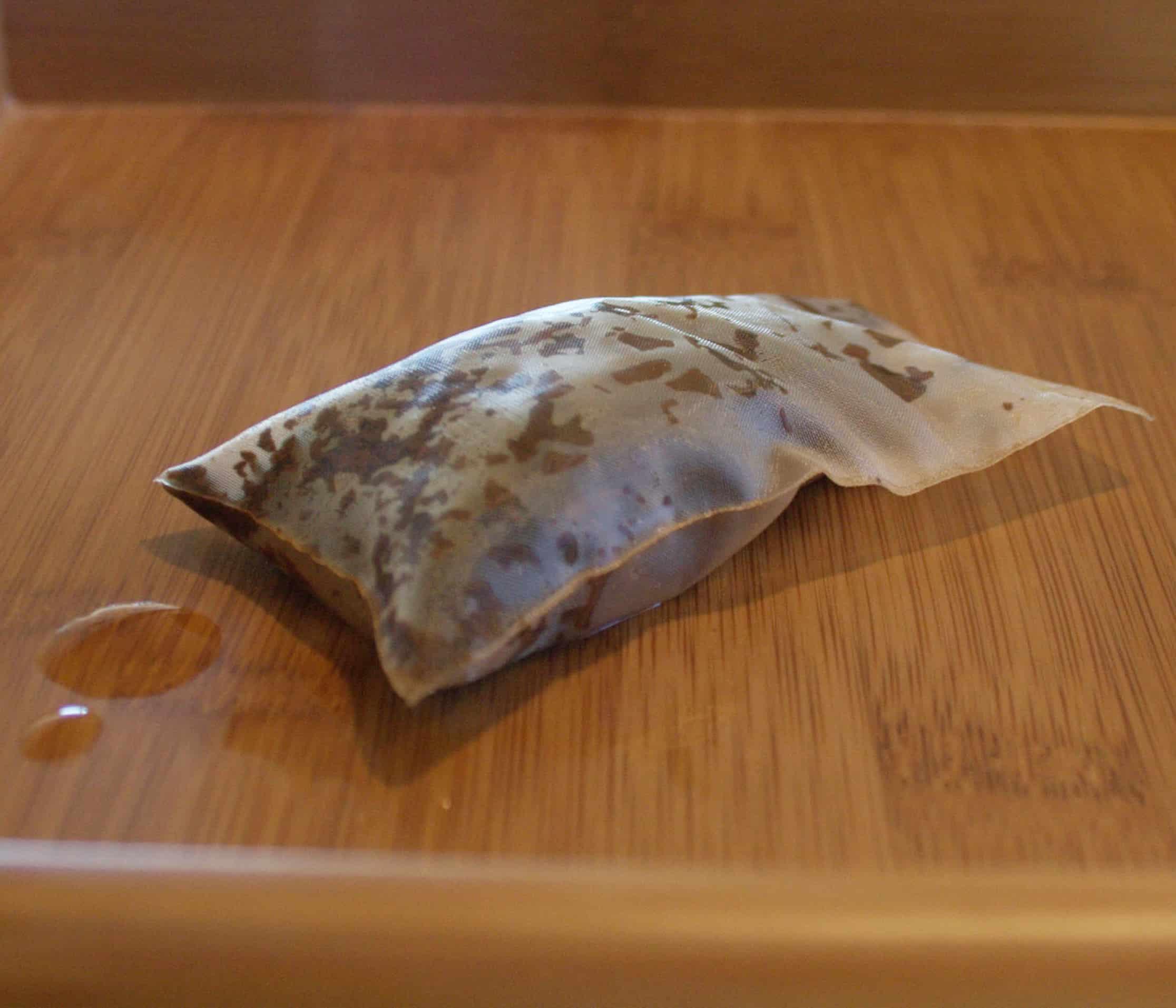 Same tea bag after steeping