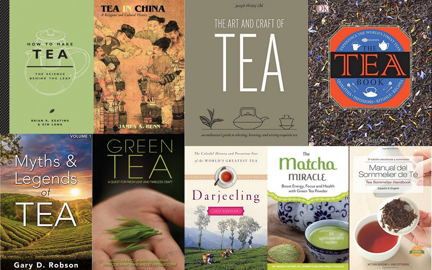 Collage of tea books that came out in 2015