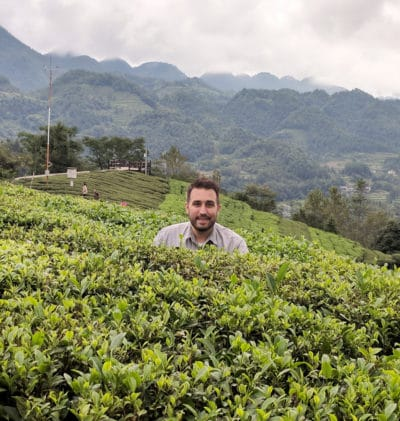 Tea Epicure Tony Gebely in a Tea Field in Hubei China